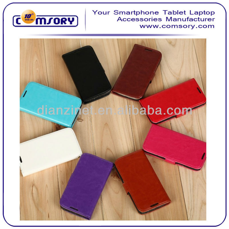 High quality Wallet phone Case with stand function For Samsung Galaxy S4 mini Paypal Acceptable