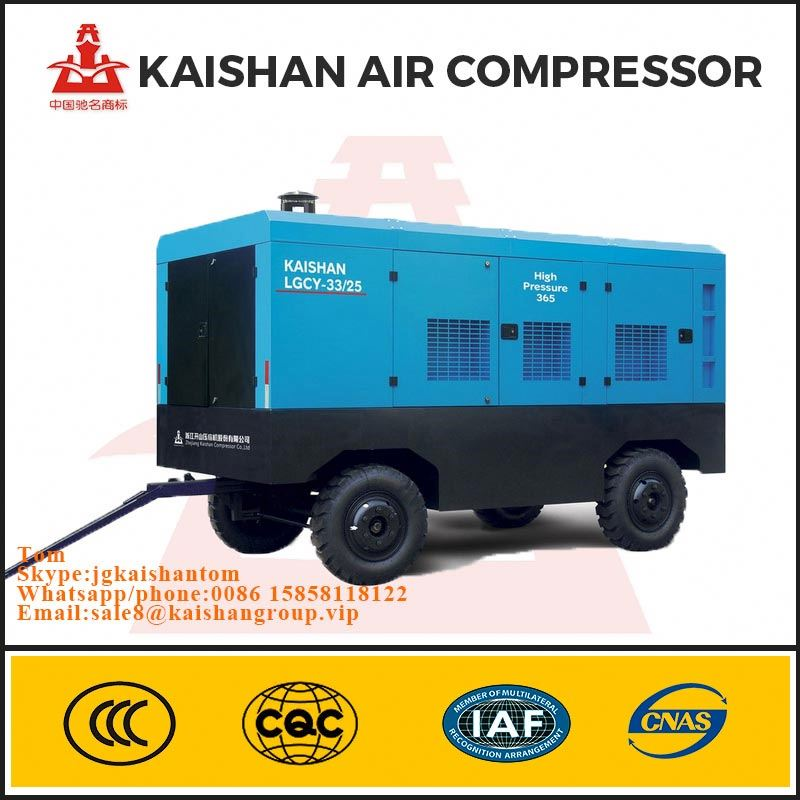 8 bar diesel portable screw air compressor used in outdoor