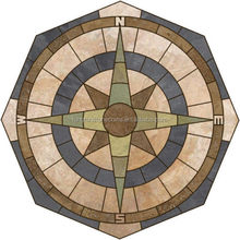 Cheap Natural Slate Design Mosaic Tile Wall Flooring Compass Rose Medallion