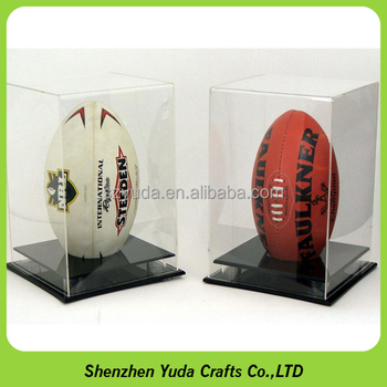 UV Protection Acrylic Rugby Display Case Safe Rugby Ball