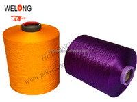 huilong 150/48 dope dyed polyester dty yarn