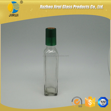 250ml Square Shape Clear Glass Olive Oil Bottle