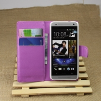 Design professional flip leather case for htc one mini m4