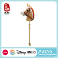 2017 hot wholesale plush walking stick with horse head toys for kids
