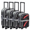 pc/eva luggage abs and pc trolley case with 4 wheels