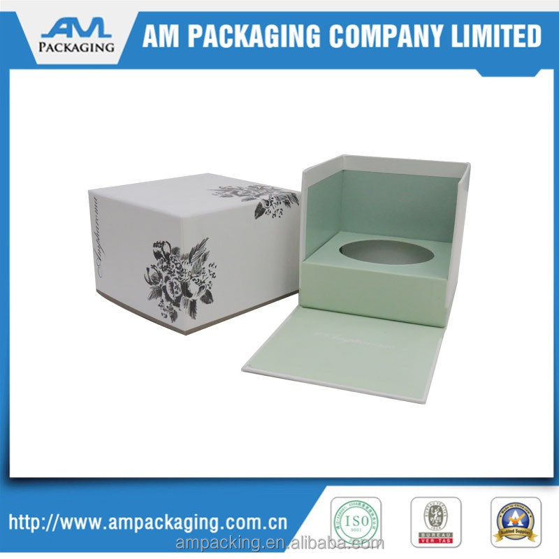 custom wax set up rigid luxury packaging paper scent candle box