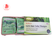 Best quality noni fast magic make black hair color shampoo for home use