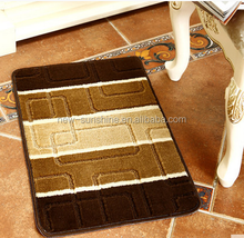 2015 the new flannel simple and fashion stripe pattern living room wood floor mat/study /bedroom/living room /study earth MAT