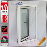 decorative house AS2208 glass standard aluminum frames tilt and turn window with flynet