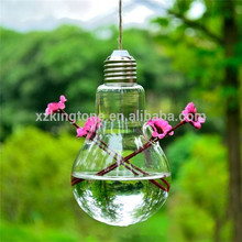 200ml small bulb shape rattan aroma glass bottles glass container with screw cap