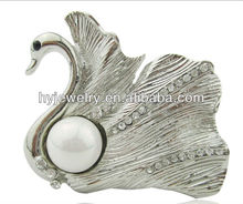 Swan diamond and pearl brooch wholesales