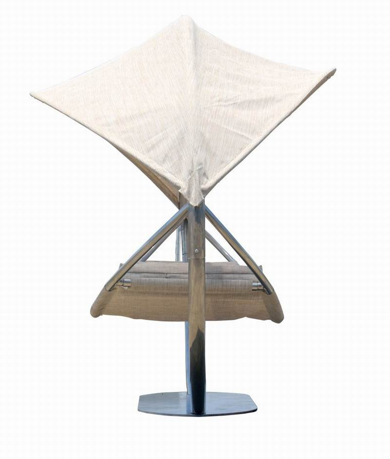 Steel hammock with sunshade , hammock stand with canopy