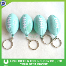 PU Colorful Fashion Press Rugby Ball Keyrings Wholesale