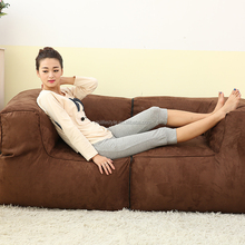 Home decorations micro suede bean bag chaise lounge lazy couple chair sofa