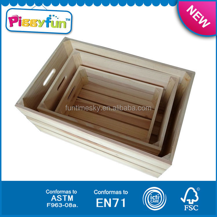 High Quality Cheap OEM Wooden Fruit Crates For Sale AT11659 Decorative Wooden Box
