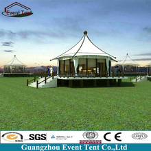 Heavy duty metal frame resort pagoda tent for outdoor activity