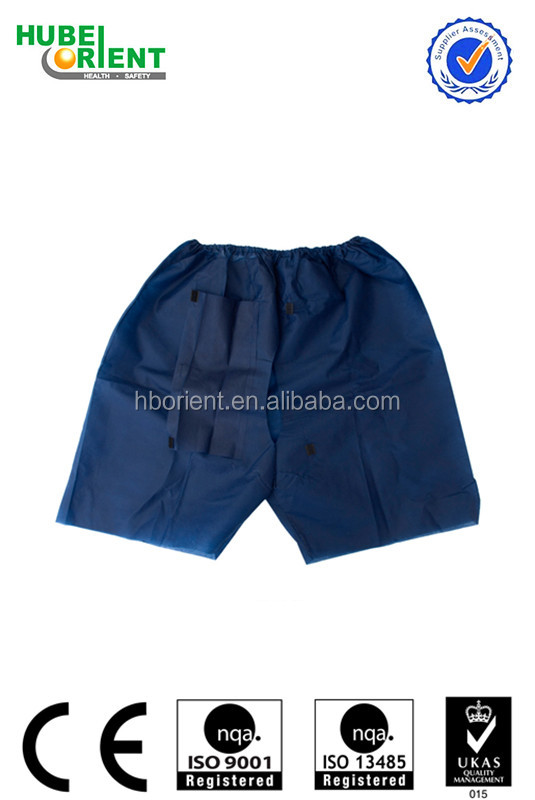 Disposable Blue Underwear/ Disposable Boxer Shorts/ Men Short Pants