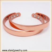 Plain Rose Gold Pure Copper Bracelet Magnetic for healing men and women's arthritis,easy to clean