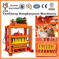Color paver maker price for QTJ4-40 SMALL Home making machine for solid bricks/Hollow blocks