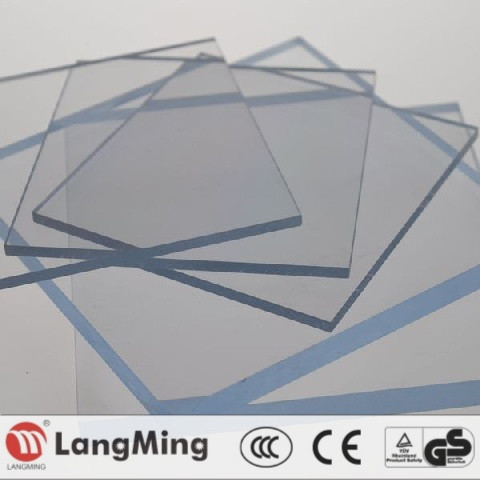 3mm riot shield sound barrier awning bus shelter swimming cover greenhouse roofing polycarbonate sheet price