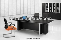 Black Conference Table, Modern MFC Black Meeting Table Suit ( FOHHA24-B)