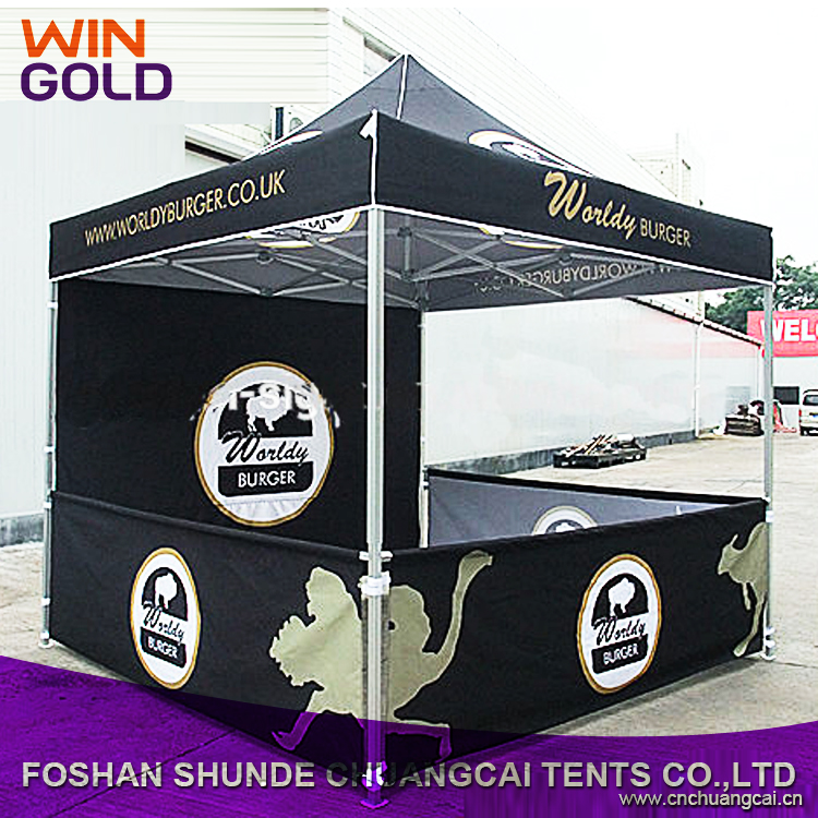 4x4 Cheap Custom Printed Canopy tent, Folding Portable Canopy Tent For Car, 40mm Intensified Aluminum Tube Canopy Tent