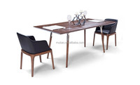 European style wooden dining table Modern loft dining table designs