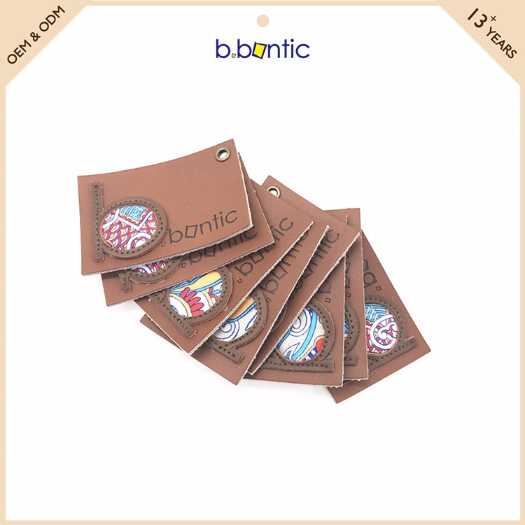 Bbontic newest popular leather patch for jeans