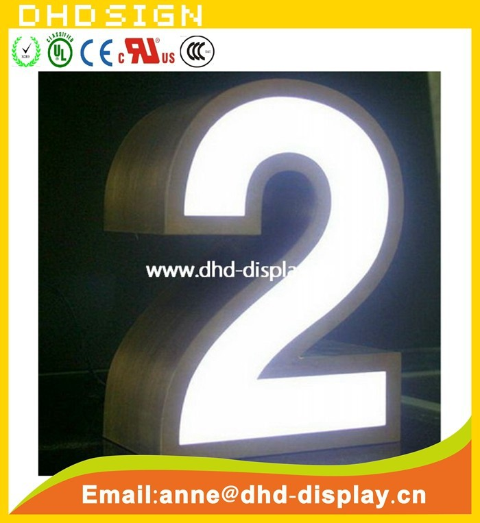 led channel letter sign house number sign
