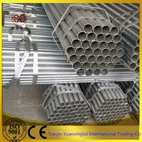 BS1387 1/4 inches pre galvanized steel pipe
