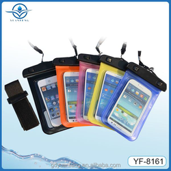hot selling PVC Cell Phone Waterproof Bag for swimming beach