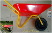 Hot sale beautiful metal tray mini wheelbarrow for children toy WB0101