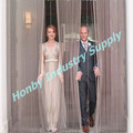 Wedding Party Stage Decor Metal Bead String Curtain