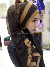 2016 Sexy Women Beautiful Turkey Real Chiffon Silk Printing hijab scarf long 170 * 65cm TJ2999