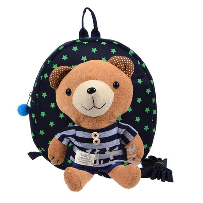 Child Backpack Toddler Dayback Safety Harness with Rein Kids School Bear Toy Cotton Detachable Bag