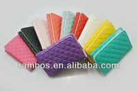 Lattice with Card Slots Holder Leather Mobile Phone Purse for iPhone 5S 5 5C