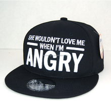 3D Letters Flat Brim Baseball Caps 6 Panels Custom Sports <strong>Hat</strong>