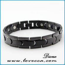 Black IP Tungsten Carbide ID Bracelet, Brushed & Polished Finish VI