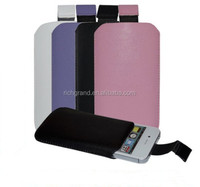 New stylish pull up leather case cover sleeve skin pouch for iphone 4 4s