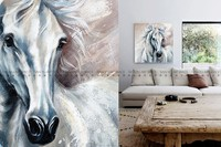 Wall decor art work craft animal oil painting horse painting on canvas