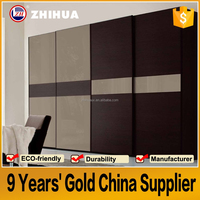 HIGH-QUALITY modern design bedroom wall to wall sliding wardrobe doors