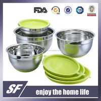Stainless Steel Mixing Bowl/Salad Bowl With Silicon Base