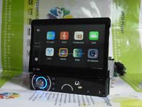 7 inch Universal One din Car GPS DVD with detachable Panel and 3D Apple UI DH7090