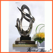 NHTC971 Hot Sale Silver Decorative Porcelain Abstract Sculpture Artists