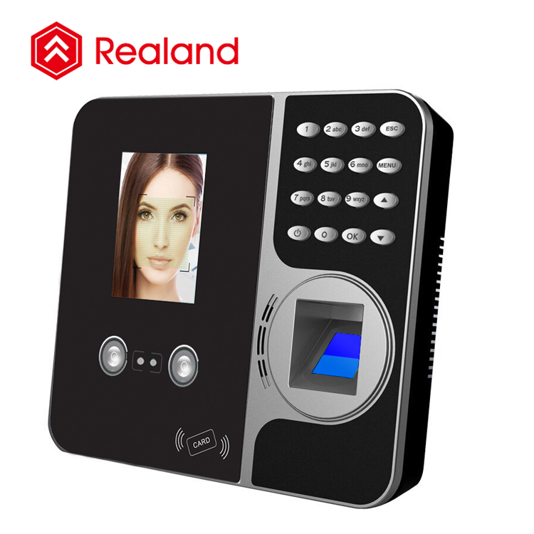 Realand F491 New Arrival 2.8 inch TFT Screen 1000 Facial and 5000 Fingerprint Large Capacity Time Attendance Machine