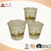 Outdoor garden printed flower pots customized with many shapes