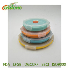New Arrival Silicone Collapsible Lunch Box Set