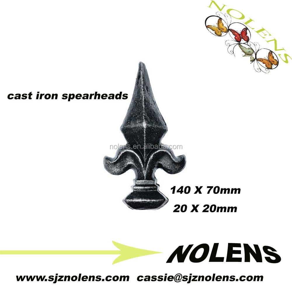Cast iron spear,finial,spire, ornamental fence toppers/Wrought Iron Railhead 140 X 70