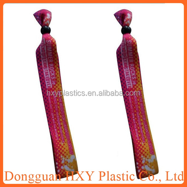 Best selling items cheap eco-friendly Polyester woven wristband, customised fabric wristband