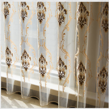 Living room jacquard valance curtains with organza used stage for sale